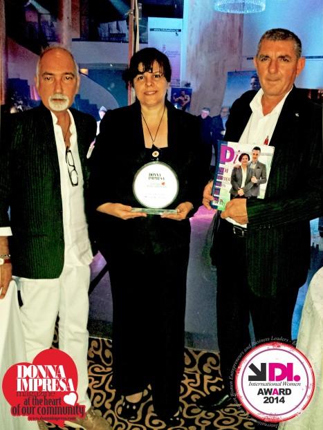 Bruno Baldassarri Donna Impresa con Camelia Seceleneau e Petri Bozo